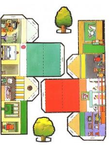 Piccole Casette Di Carta Da Costruire Mamma E Casalinga
