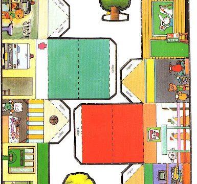 Piccole casette di carta da costruire