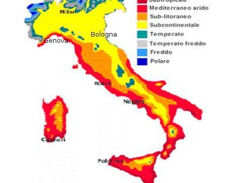 Italia Climatica Cartina.Cartina Dell Italia Climatica Mamma E Casalinga
