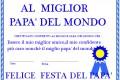 Diploma per un papa' davvero speciale