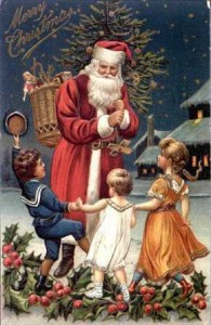 Immagini Cartoline Natale Vintage.Cartoline Di Natale Stile Vintage