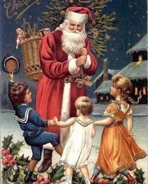 Cartoline di Natale stile vintage