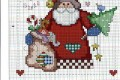 Babbo Natale a punto croce