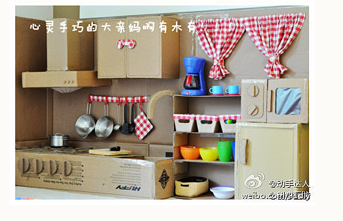 Кухня из картон своими руками