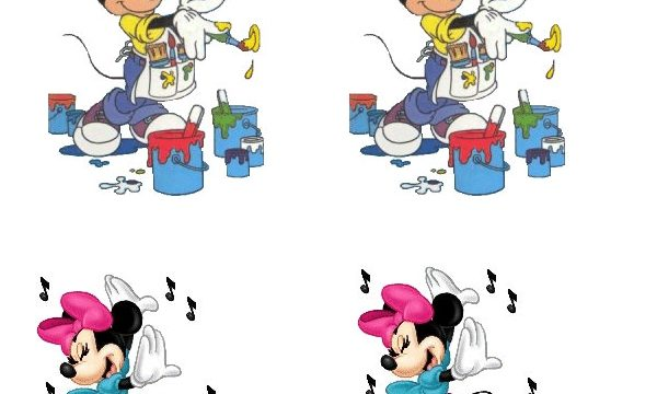 Etichette adesive Minnie