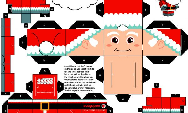 Natale : Personaggi Papercraft