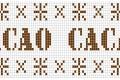 Schema punto croce : Bordo cacao