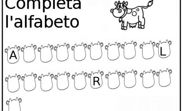 Scheda didattica: Completa l'alfabeto