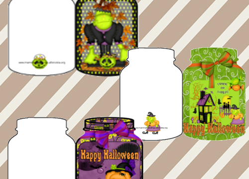 Halloween: Biglietti a forma di barattoli
