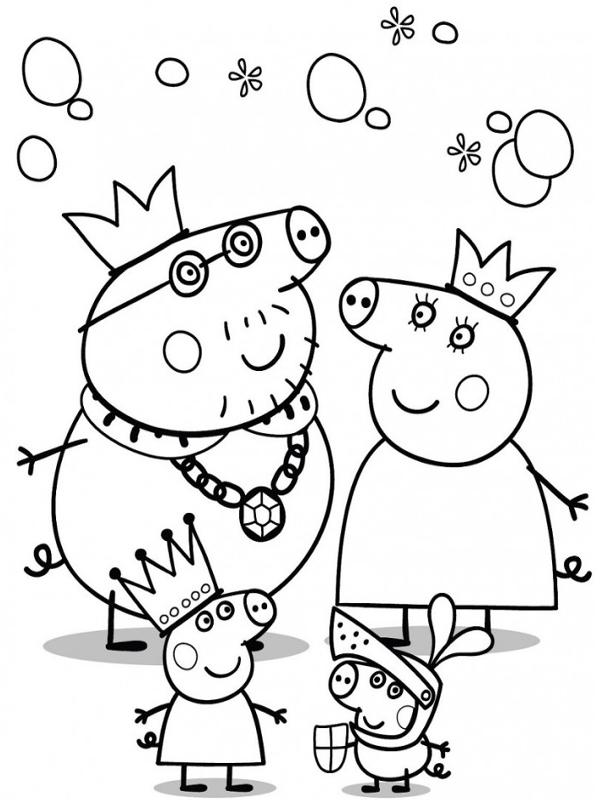 10 disegni da colorare di peppa pig