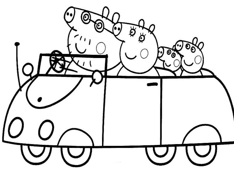 10 disegni da colorare di peppa pig for Maschere di peppa pig da colorare