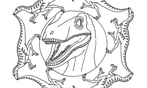 10 Mandala da colorare sui dinosauri