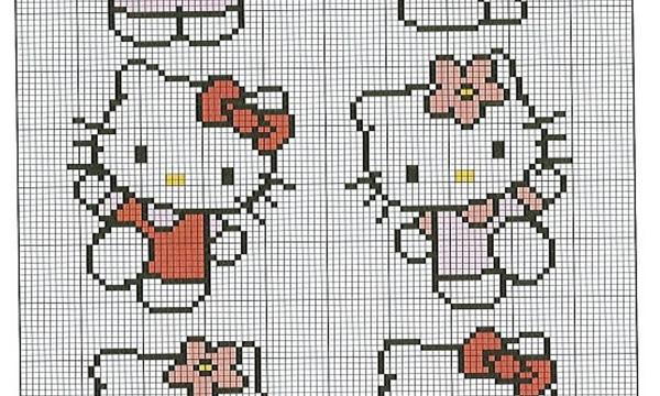 Punto croce: schemi Hello Kitty