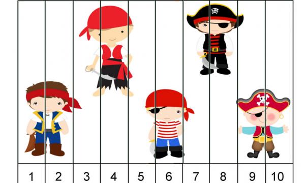 I Numeri : 5 Puzzle dei Pirati