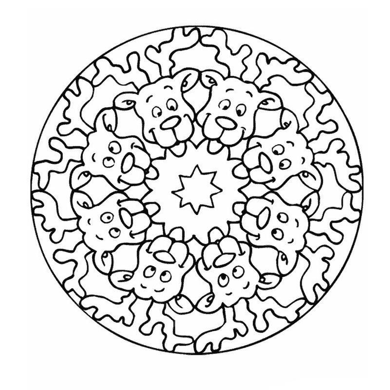 Coloriamo I Mandala Del Natale Mamma E Casalinga