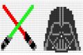 Punto croce: Bordo Star Wars