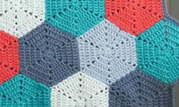 Uncinetto: schema piastrelle esagonali