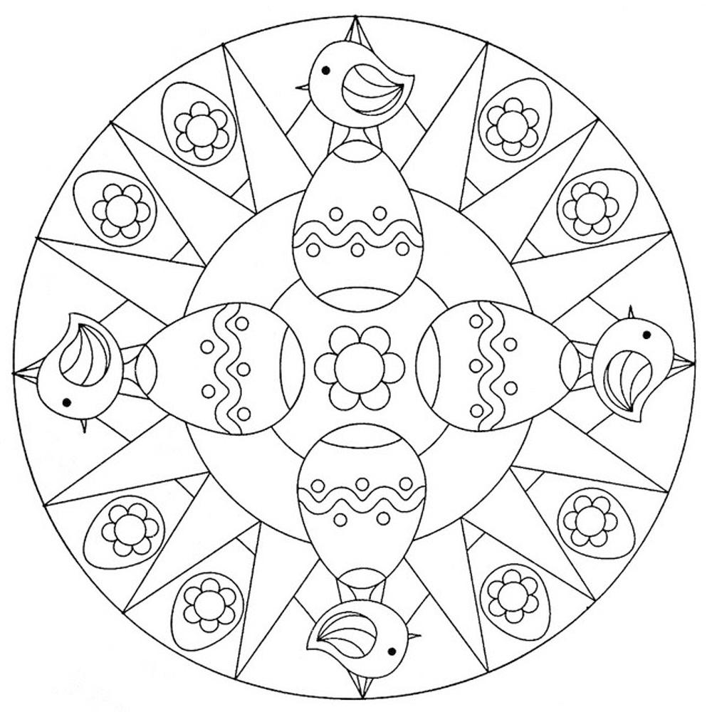 Mandala di pasqua da colorare mamma e casalinga for Disegni di mandala semplici