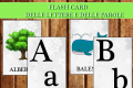 Le Flash Card delle lettere e delle parole
