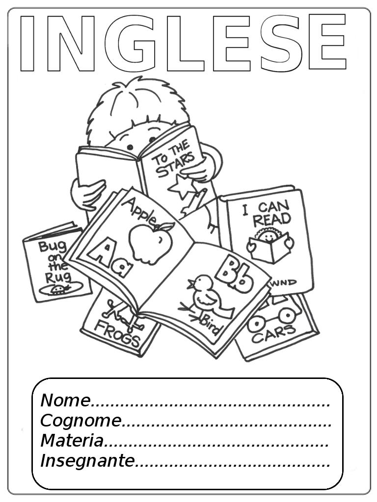 Copertine per quaderni inglese e francese da colorare - Immagini in francese per bambini ...