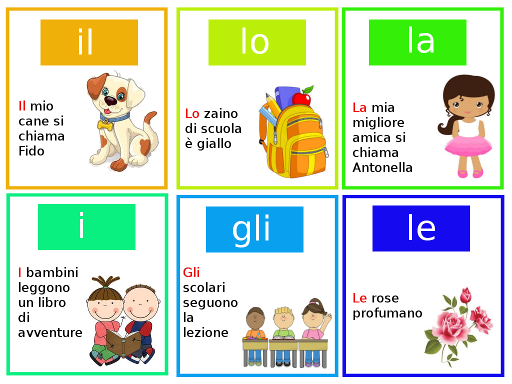 Grammatica gli articoli determinativi mamma e casalinga for Articoli casa
