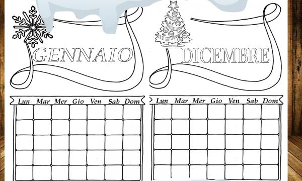 Calendario Perpetuo da colorare