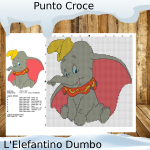 Punto Croce: L'Elefantino Dumbo