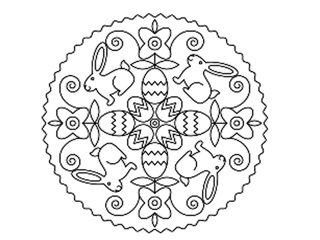 Mandala di pasqua da colorare mamma e casalinga for Mandala da colorare con animali