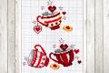 Punto croce: tazzine natalizie decorative