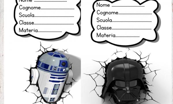 Copertine per quaderni Star Wars