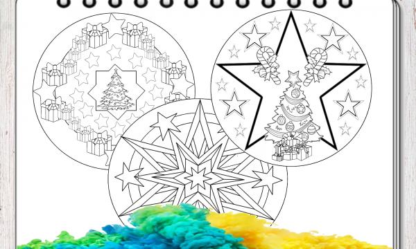 5 mandala di Natale da colorare