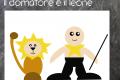 Cartoncino : Il domatore e il leone