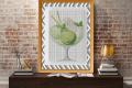 Punto croce: coppa gelato verde