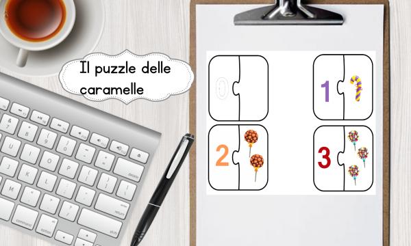 Numeri: i puzzle delle caramelle