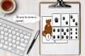L'orso, le orme e i numeri da 1 a 20