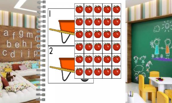 I pomodori e i numeri da 1 a 30