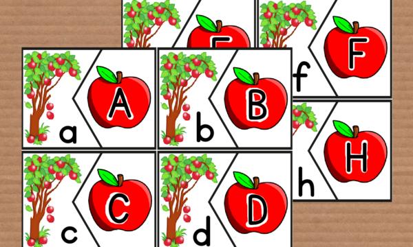 Le mele e le lettere dell'alfabeto